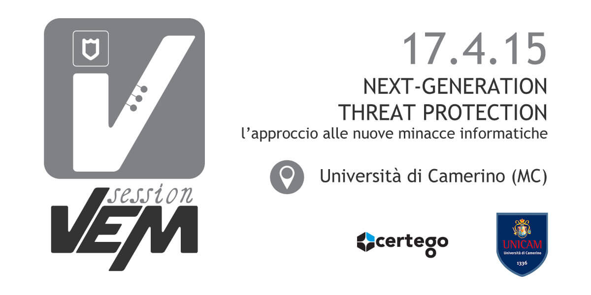 VEM session Security - Camerino - 17 aprile 2015